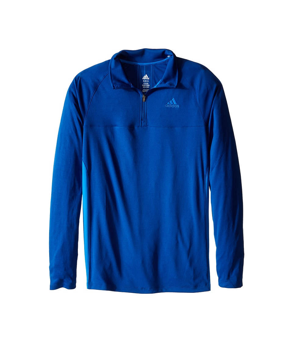 adidas Kids - 1/4 Zip (Big Kids) (EQT Blue/Shock Blue) Boy's Long Sleeve Pullover