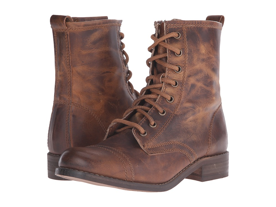 Steve Madden - Charrie (Cognac Leather) Women's Lace-up Boots