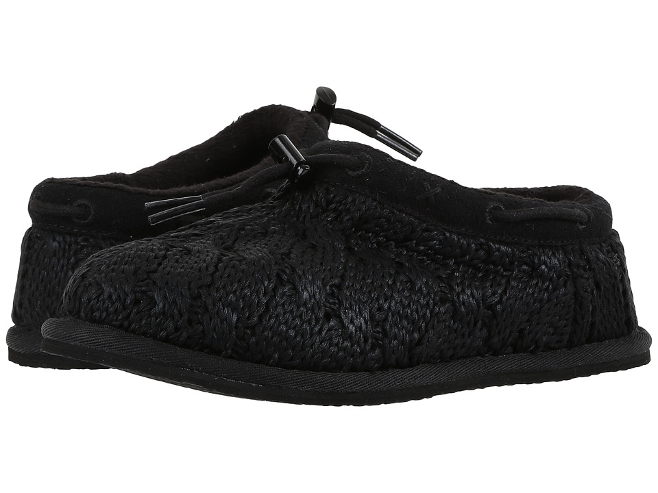 UGG Kids - Freesia Cable Knit (Little Kid/Big Kid) (Black) Girls Shoes