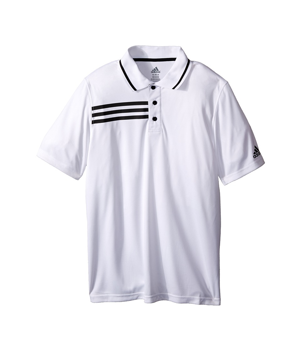 adidas Kids - Elite Polo (Big Kids) (White/Black) Boy's Short Sleeve Pullover