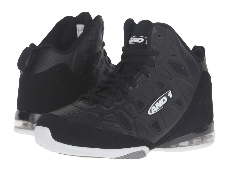 AND1 Kids - Master 3 (Little Kid/Big Kid) (Black/White) Boys Shoes