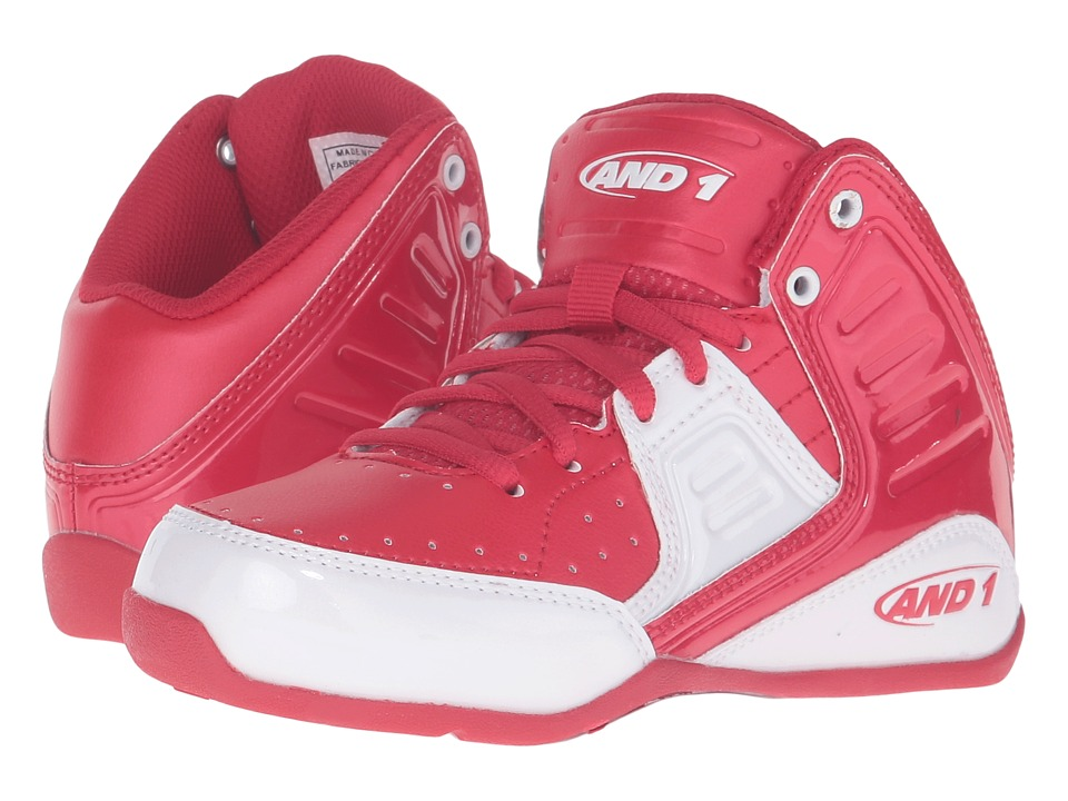 AND1 Kids - Rocket 4 (Little Kid/Big Kid) (F1 Red/White) Boys Shoes