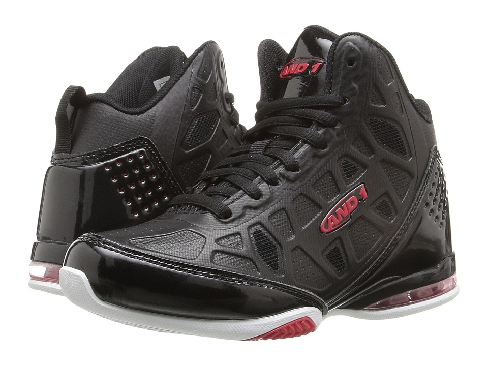 AND1 Kids - Master 3 (Little Kid/Big Kid) (Black/Red) Boys Shoes