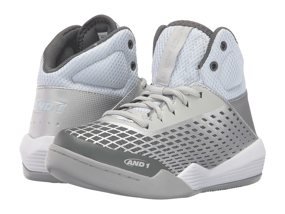 AND1 Kids Ascender (Little Kid/Big Kid) (Glacier Grey/Silver/White) Boys Shoes