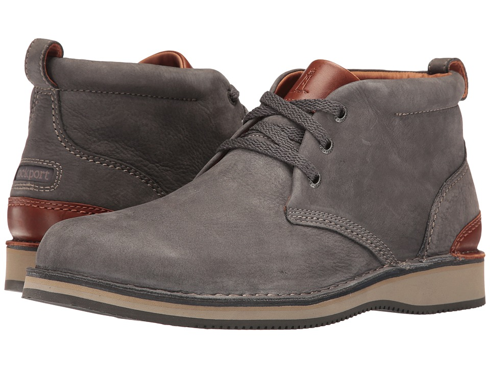 Rockport - Prestige Point Chukka (Charcoal) Men's Lace-up Boots