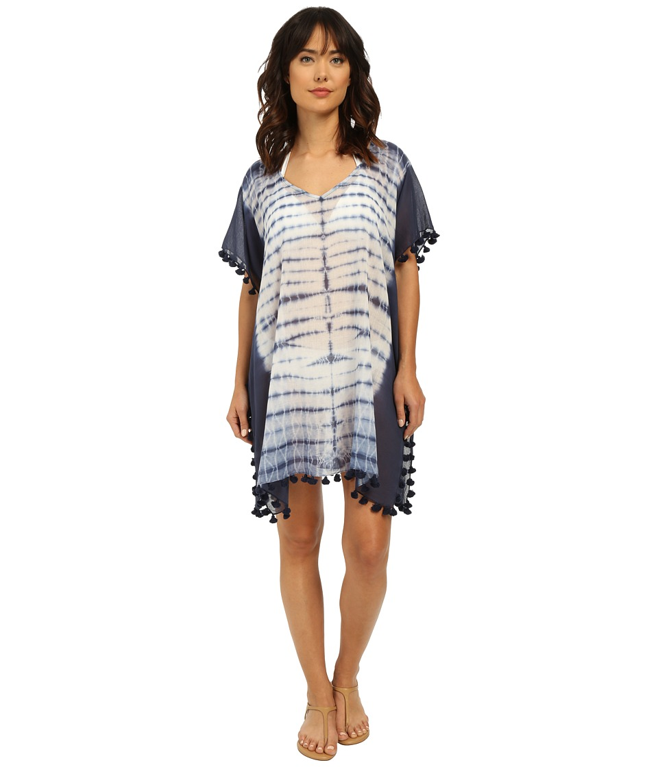Seafolly - Project Kaftan Cover-Up (Indigo) Women's Swimwear