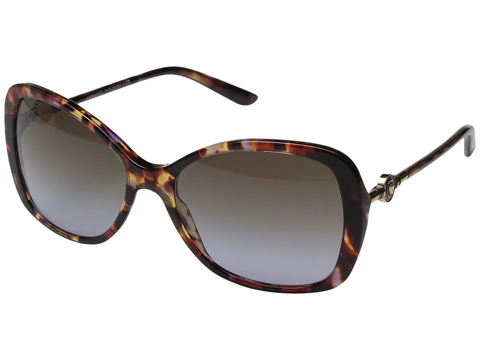 Versace - VE4303 (Havana Transparent Violet/Violet Gradient Brown) Fashion Sunglasses