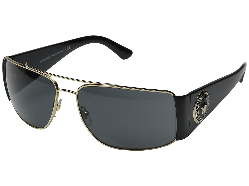Versace - VE2163 (Gold/Black/Grey) Fashion Sunglasses