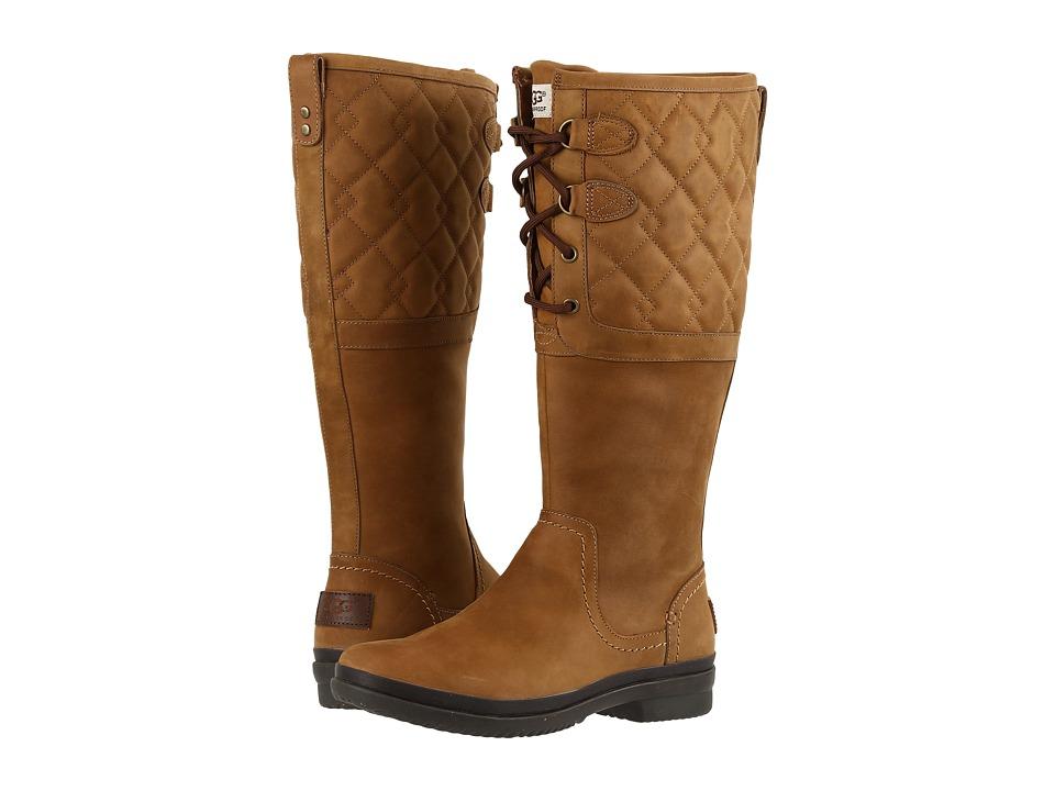 UGG - Elsa Deco Quilt (Chestnut) Women's Boots