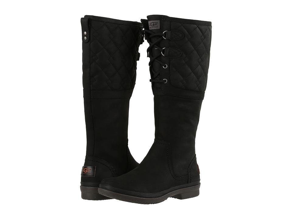 UGG - Elsa Deco Quilt (Black) Women's Boots