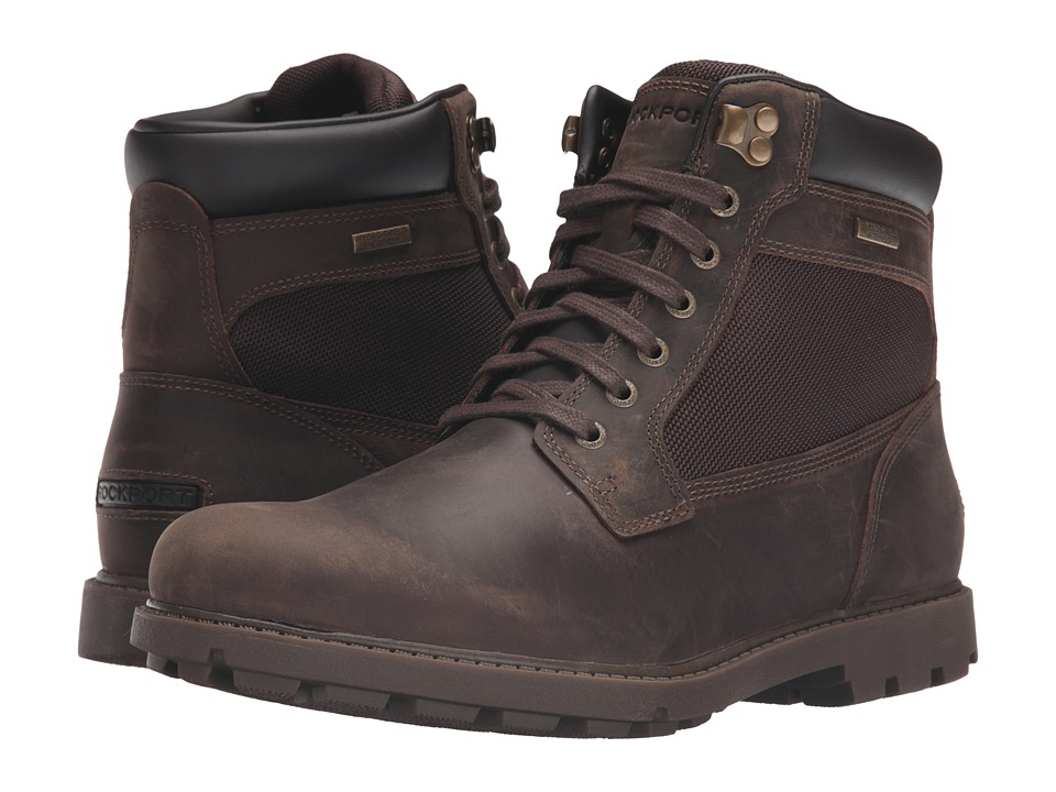 Rockport - Rugged Bucks Waterproof High Boot (Dark Brown) Men's Waterproof Boots
