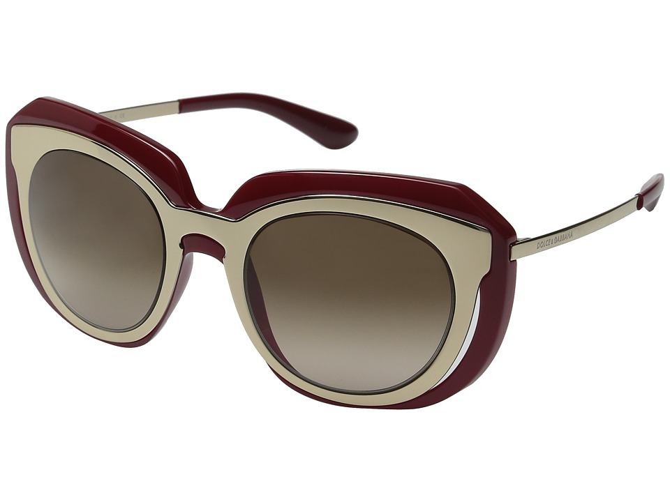 Dolce & Gabbana - 0DG6104 (Pale Gold/Pink/Brown Gradient) Fashion Sunglasses