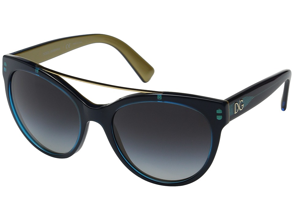 Dolce & Gabbana - 0DG4280 (Top Petroleum/Grey Gradient) Fashion Sunglasses