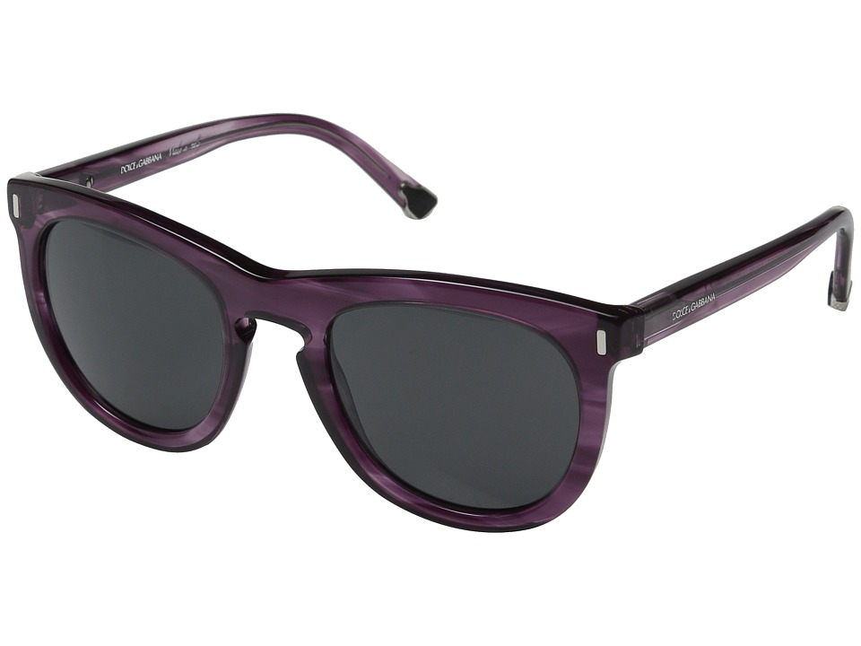 Dolce & Gabbana - 0DG4281 (Striped Violet/Grey) Fashion Sunglasses