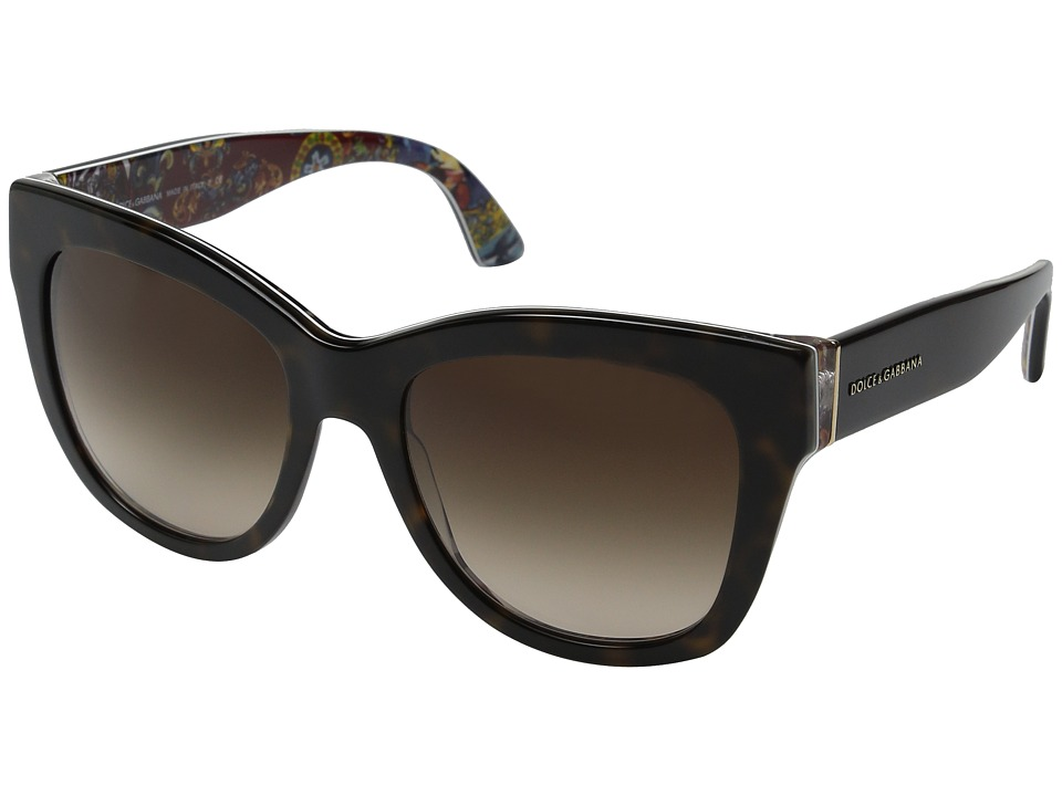 Dolce & Gabbana - 0DG4270 (Top Havana/Brown Gradient) Fashion Sunglasses