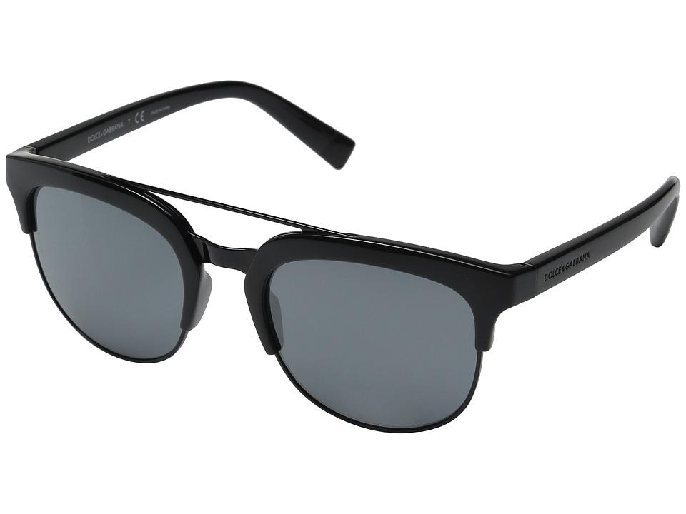 Dolce & Gabbana - 0DG6103 (Black/Grey Mirror Black) Fashion Sunglasses