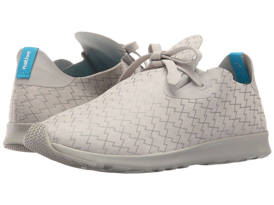 Native Shoes - Embroidered Apollo Moc (Pigeon Grey/Pigeon Grey/Lightning) Slip on Shoes