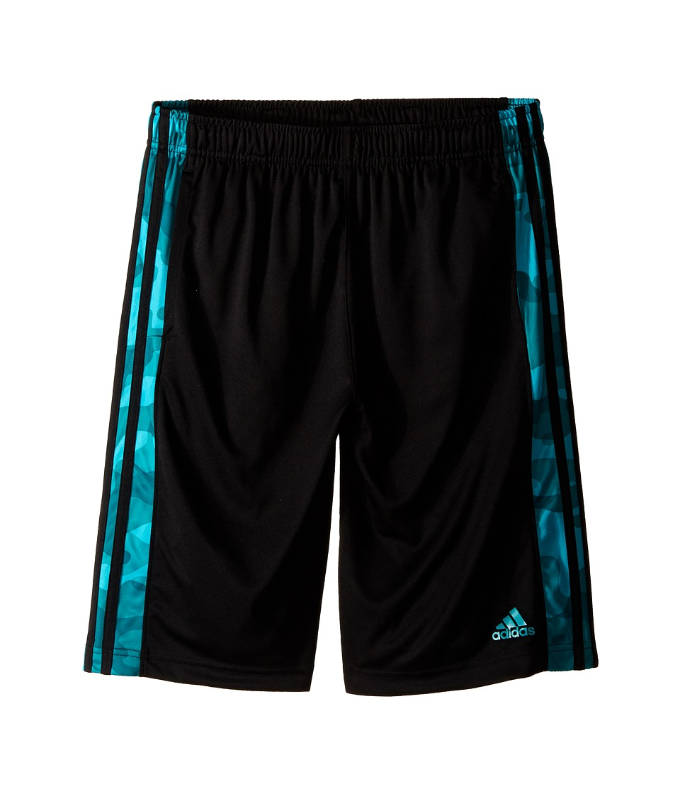 adidas Kids - Essentials Camo Shorts (Big Kids) (Black/EQT Green) Boy's Shorts