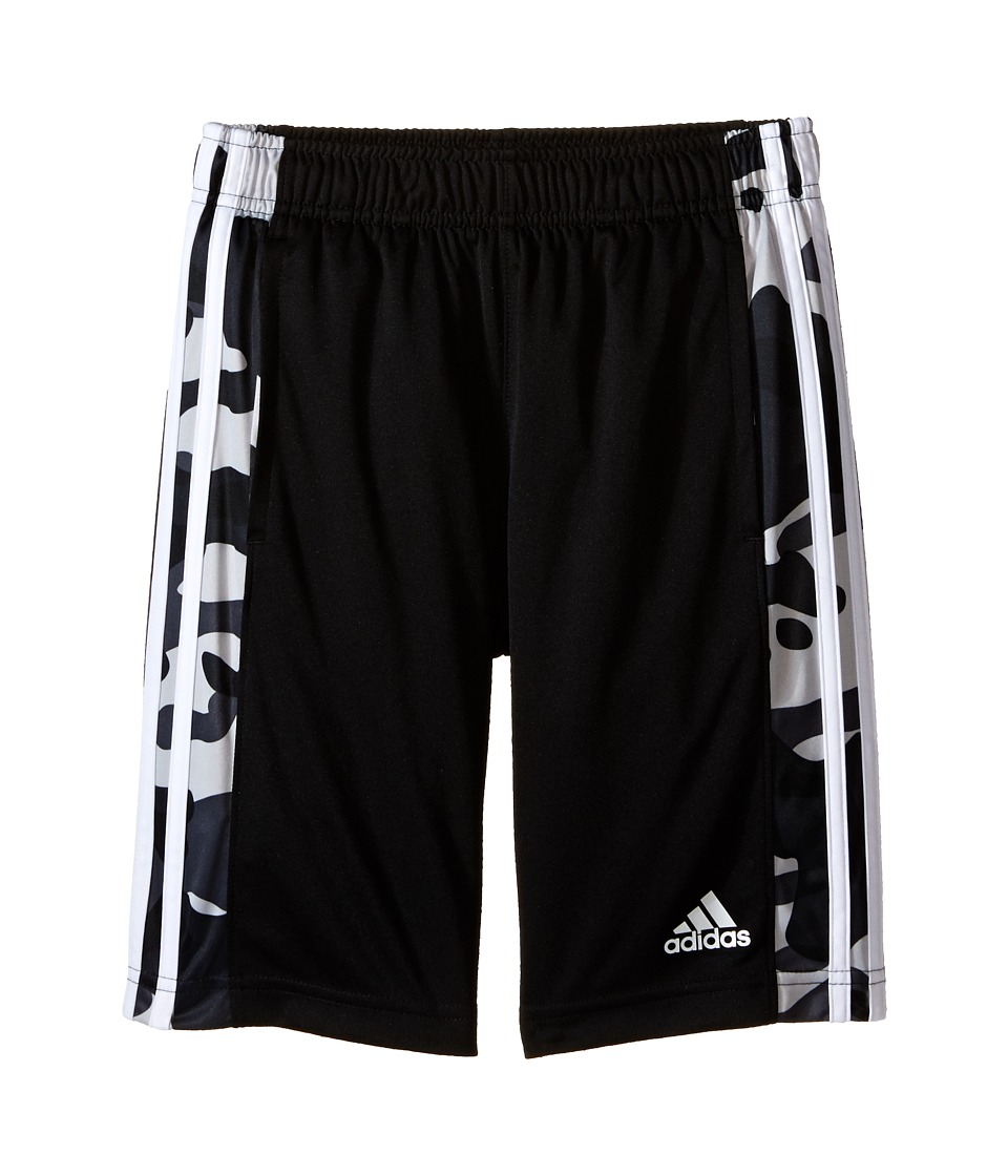 adidas Kids - Essentials Camo Shorts (Big Kids) (Black/Dark Grey) Boy's Shorts