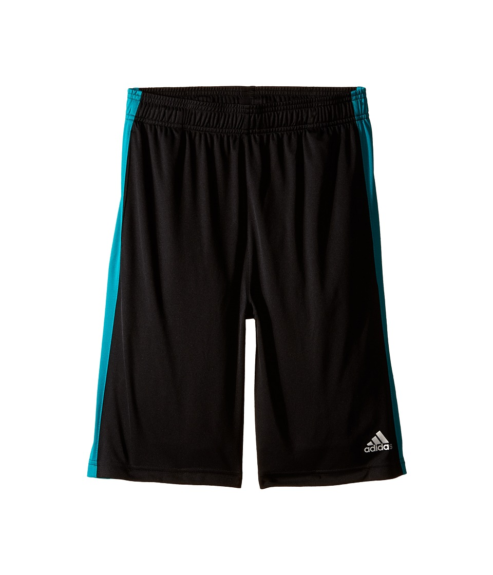 adidas Kids - Solid L Training Shorts (Big Kids) (Black/EQT Green) Boy's Shorts