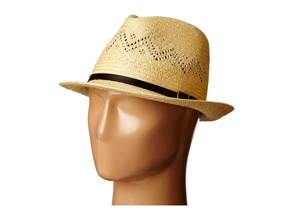 LAUREN Ralph Lauren - Paper Straw Eyelet Fedora (Natural) Fedora Hats