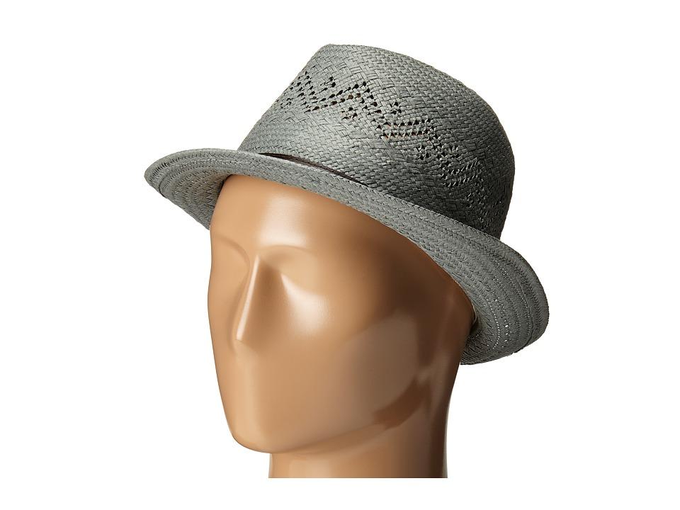 LAUREN Ralph Lauren - Paper Straw Eyelet Fedora (Chambray) Fedora Hats
