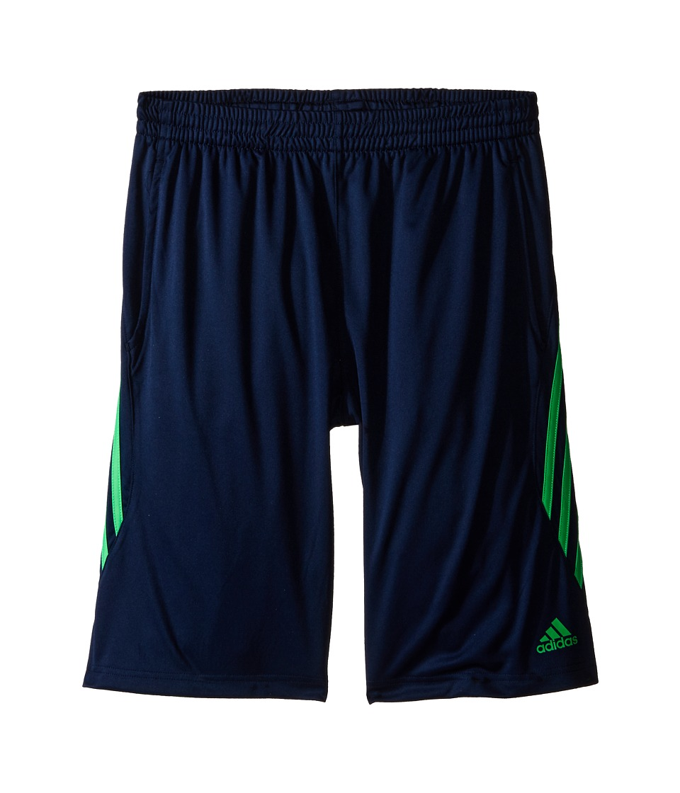 adidas Kids - Ultimate Core Shorts (Big Kids) (Collegiate Navy/Solar Lime) Boy's Shorts