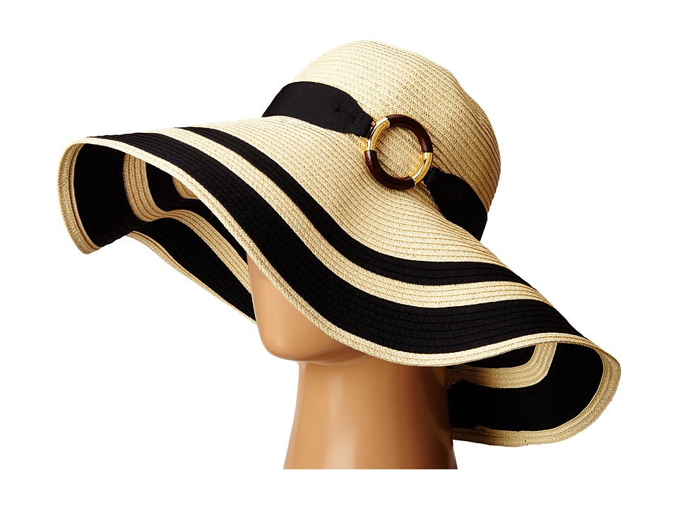 LAUREN Ralph Lauren - Paper Straw Bright Natural Sun Hat (Natural/Black) Traditional Hats