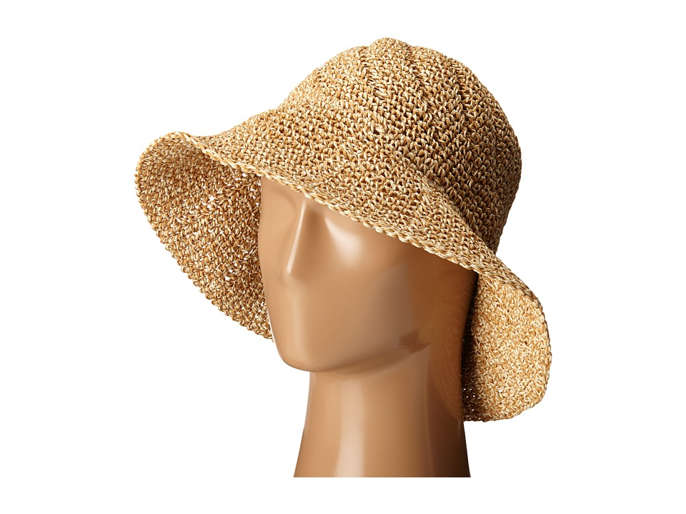 LAUREN Ralph Lauren - Paper Straw Sunwashed Dockside Cloche (Honey Tan/Berkshire Tan) Traditional Hats