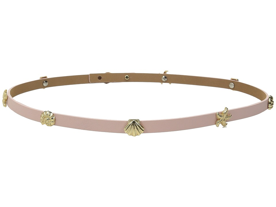 Kate Spade New York - Nappa Belt w/ Seashell Studs Belt (Pink) Women's Belts