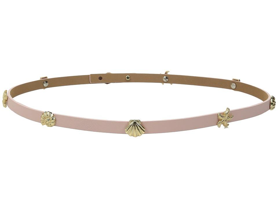 Kate Spade New York - Nappa Belt w/ Seashell Studs Belt (Pink) Women's Belts