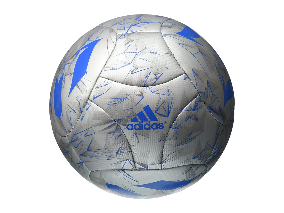 adidas - Messi Q3 (Silver Metallic/Shock Blue/Vista Grey) Athletic Sports Equipment