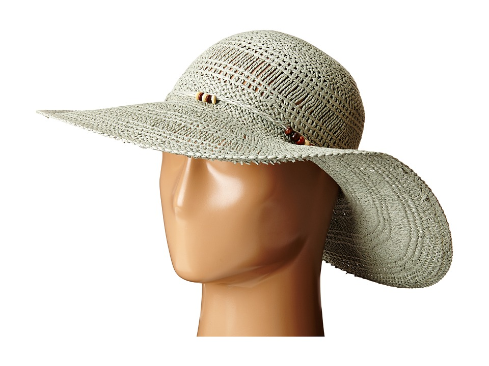 LAUREN Ralph Lauren - Paper Straw Open Weave Tassel Beach Hat (True Sage) Traditional Hats