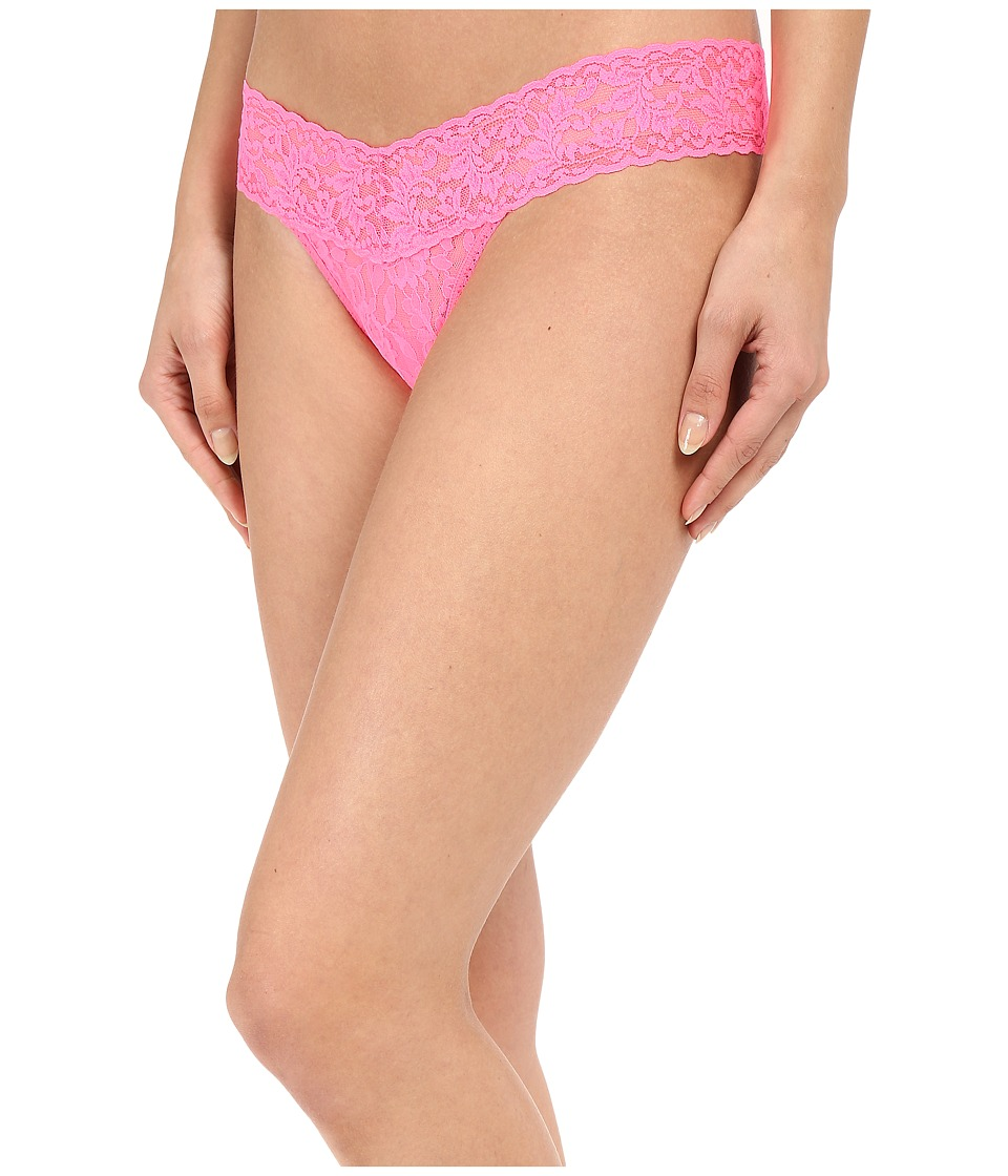 Hanky Panky - Signature Lace Low Rise Thong (Sizle Pink) Women's Underwear