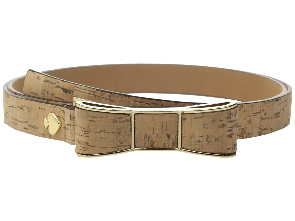 Kate Spade New York - Cork Belt w/ Bow Buckle (Natural Cork) Women's Belts