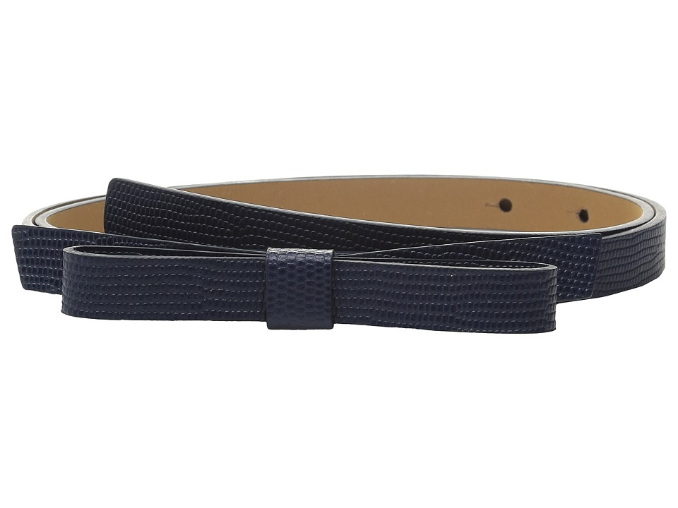 Kate Spade New York - Lizard Classic Bow Belt (Ink Navy) Women's Belts