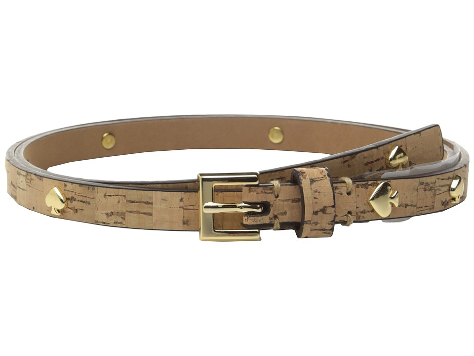 Kate Spade New York - Cork Belt w/ Spade Rivet (Natural Cork) Women's Belts