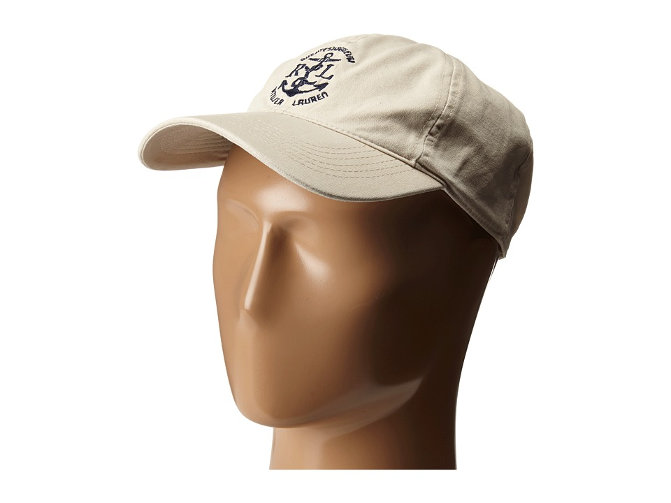 LAUREN Ralph Lauren - Cotton Canvas Sunwashed Baseball Cap (Adobe Cream) Baseball Caps