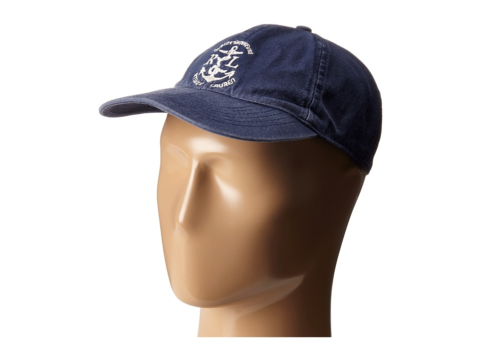 LAUREN Ralph Lauren - Cotton Canvas Sunwashed Baseball Cap (Navy) Baseball Caps