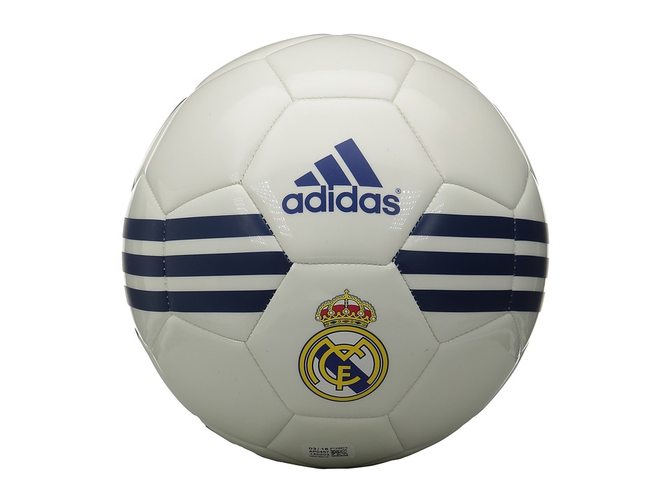 adidas - Real Madrid (White/Ray Purple/Collegiate Royal) Athletic Sports Equipment