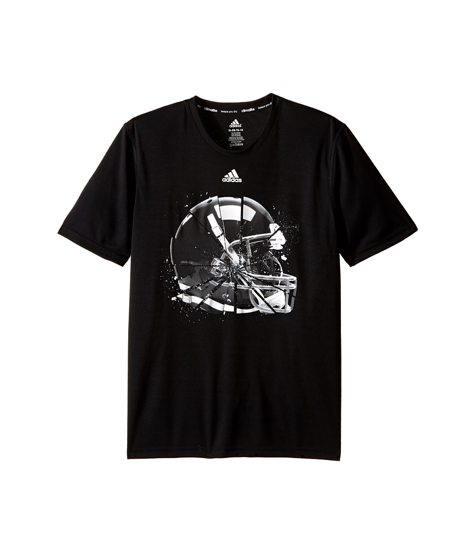 adidas Kids - Break Tackles Tee (Big Kids) (Black) Boy's T Shirt
