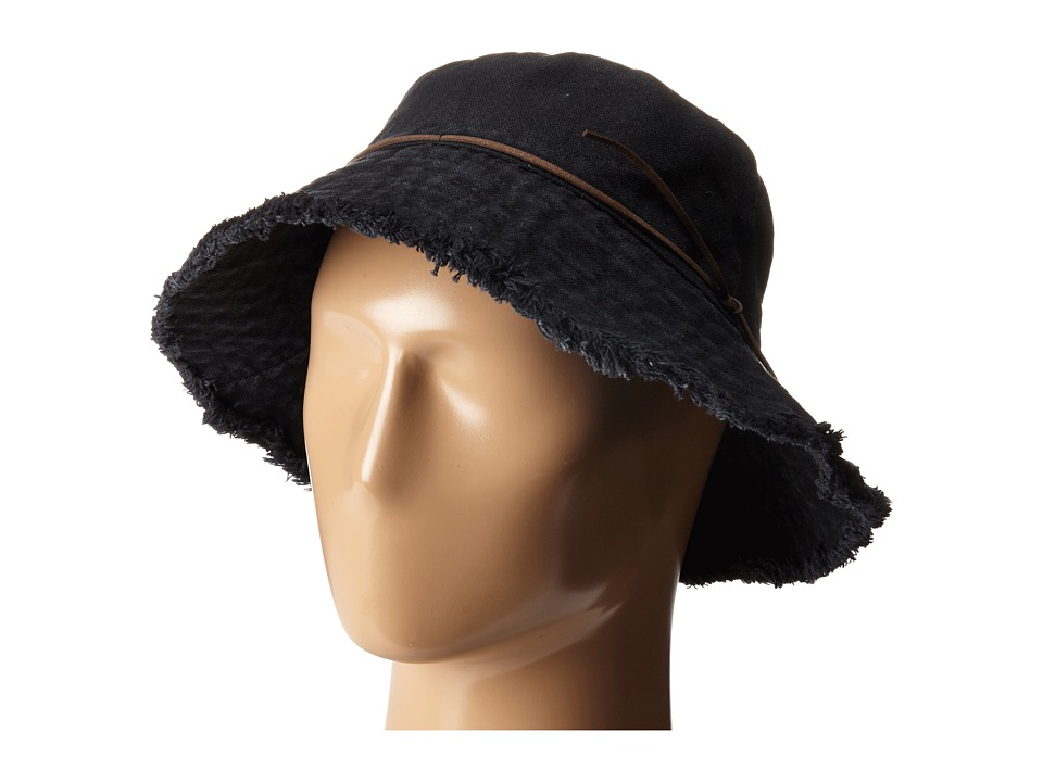 LAUREN Ralph Lauren - Cotton Sunwashed Canvas Bucket Hat (Black) Bucket Caps