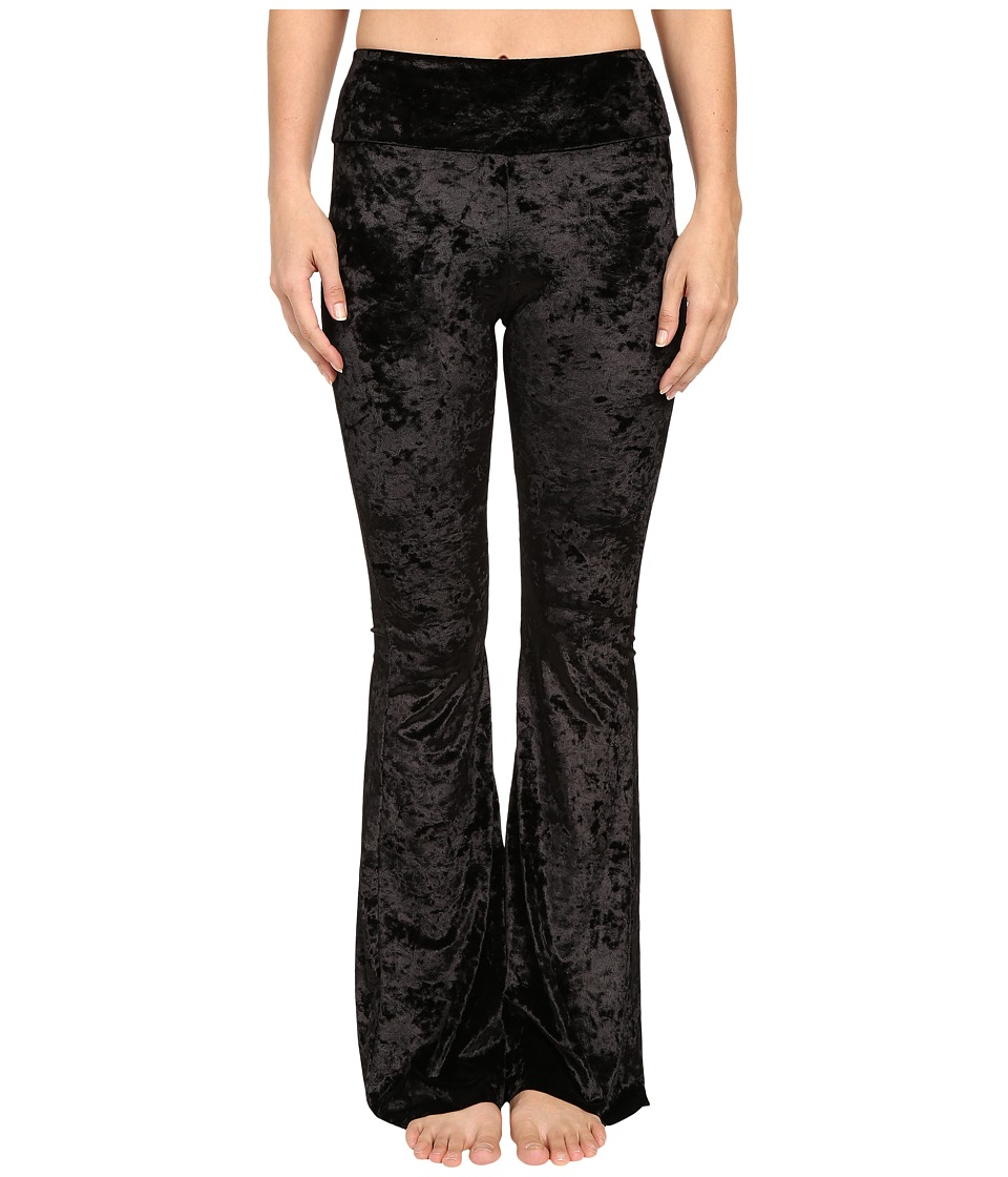 Onzie - Black Velvet Flare Pants (Black Velvet) Women's Casual Pants