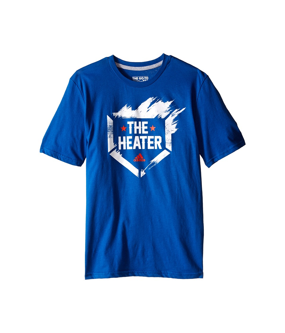 adidas Kids - The Heater Tee (Big Kids) (EQT Blue/White) Boy's T Shirt