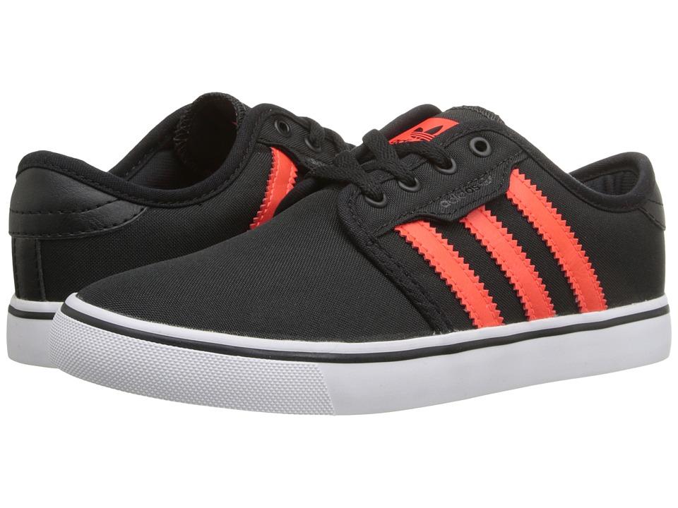 adidas Kids - Seeley (Little Kid/Big Kid) (Core Black/Solar Red/White) Kids Shoes