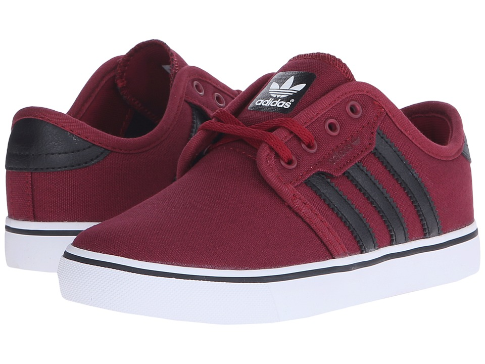 adidas Skateboarding - Seeley J (Little Kid/Big Kid) (Collegiate Burgundy/Core Black/Running White) Skate Shoes