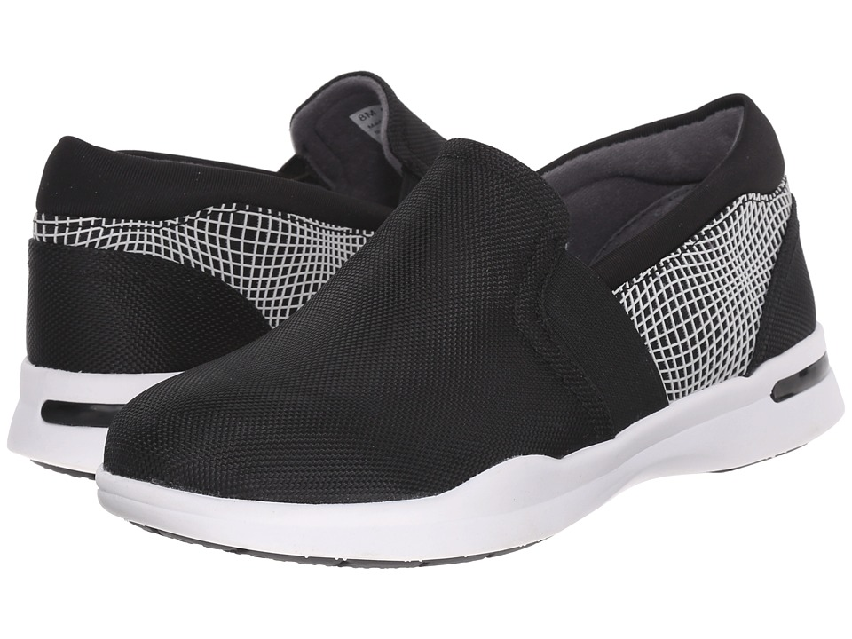 SoftWalk - Vantage (Black/Black/White Ballistic Nylon/3D Rubberized) Women's Slip on Shoes