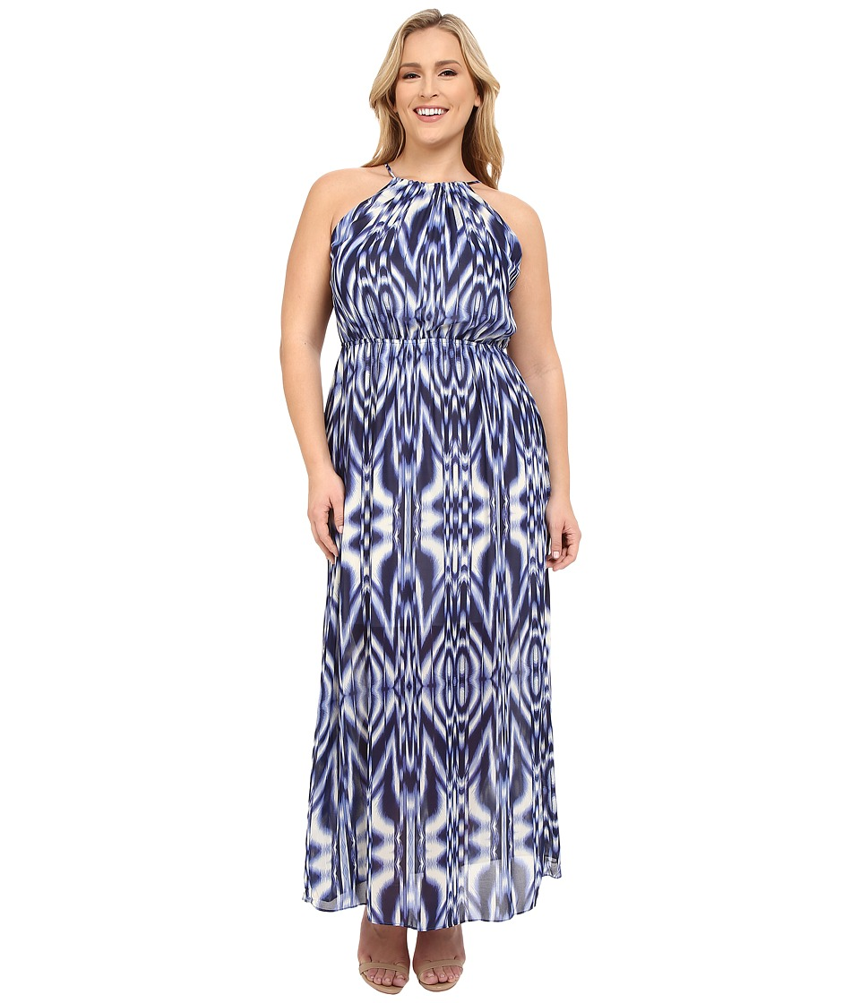 Christin Michaels - Plus Size Maya Maxi Dress (Blue) Women's Dress