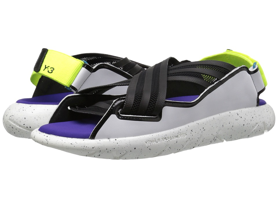 adidas Y-3 by Yohji Yamamoto - Qasa Elle Sandal (Core Black/White/Solar Yellow) Women's Sandals