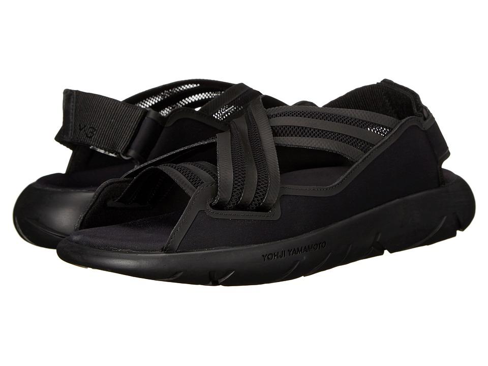 adidas Y-3 by Yohji Yamamoto - Qasa Elle Sandal (Core Black/Core Black/Core Black) Women's Sandals